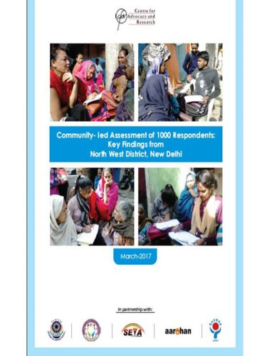 Community led assessment 1000 respondents- Key findings-2017