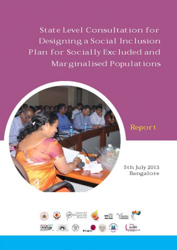 State Level Consultation for Designing_NMEW report-July 2013